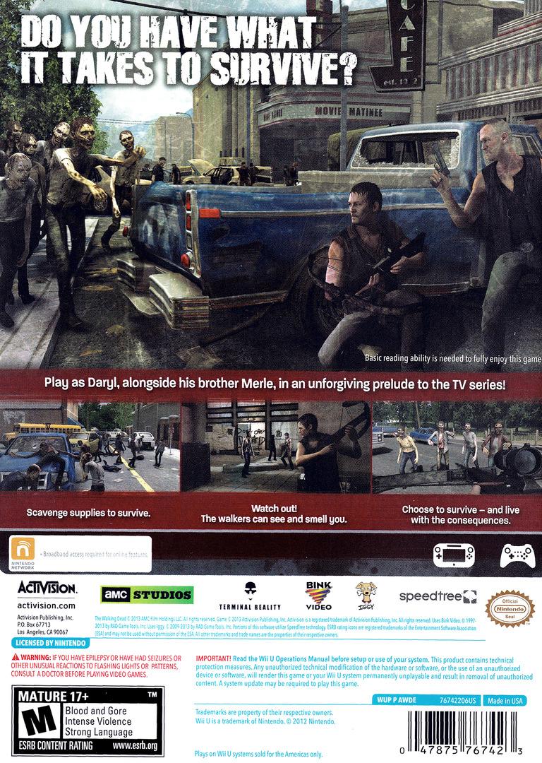 The Walking Dead: Survival Instinct WiiU backHQ (AWDE52)