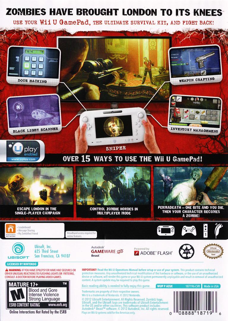 ZombiU WiiU backHQ (AZUE41)