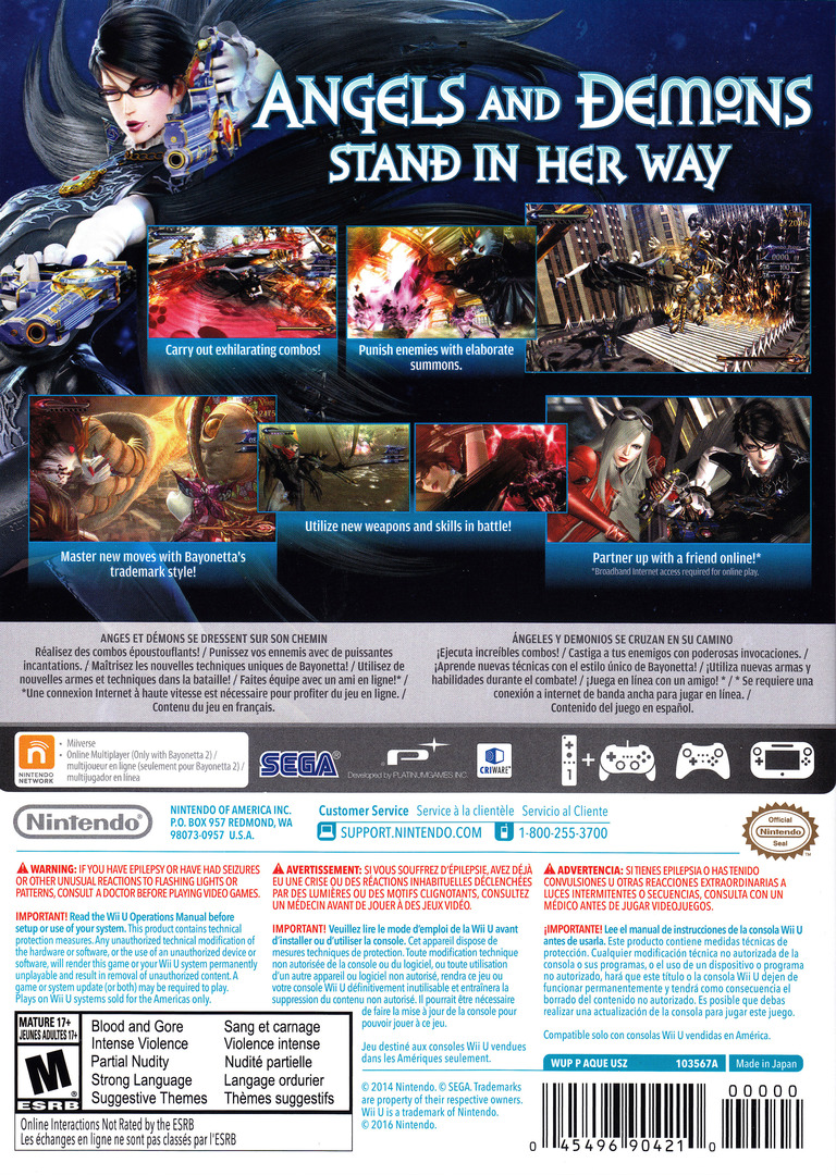 Bayonetta 2 WiiU backHQ (BPCE01)