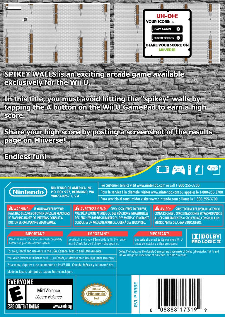 Spikey Walls WiiU backHQ (BWLE)