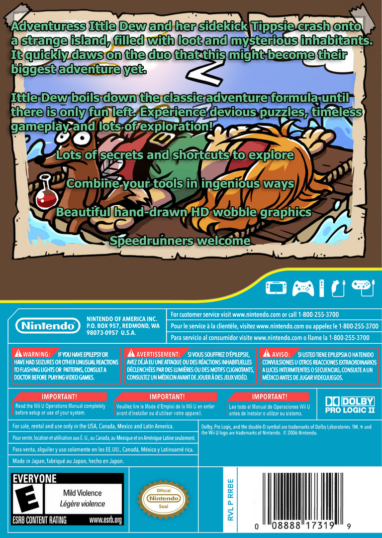 Ittle Dew WiiU backHQ (WDWE)