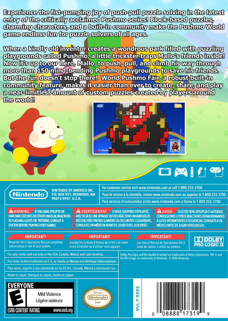 Pushmo World WiiU backHQ (WKEE)