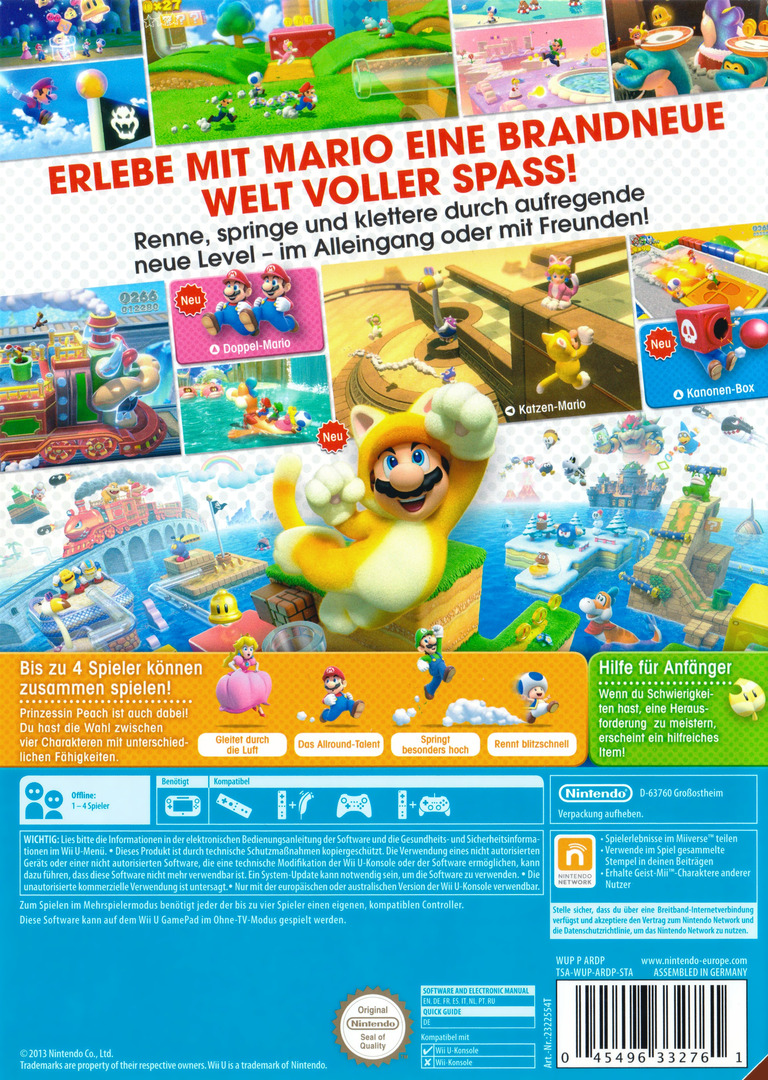 Super Mario 3D World WiiU backHQB (ARDP01)