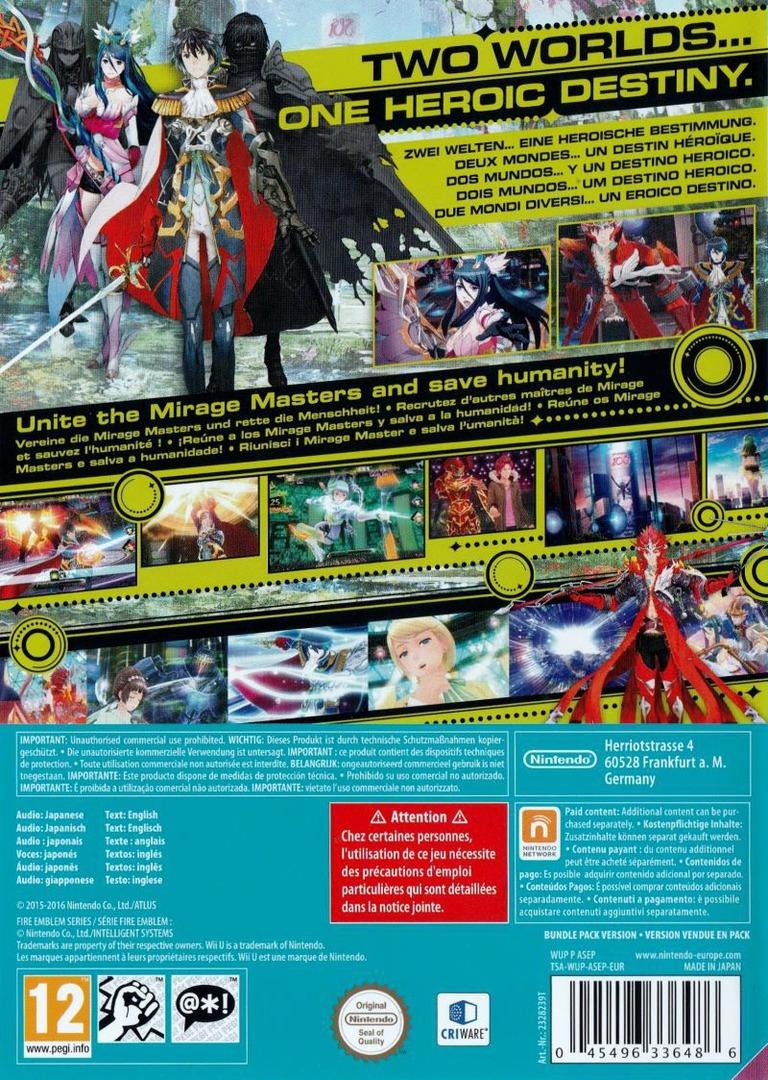 Tokyo Mirage Sessions #FE WiiU backHQB (ASEP01)