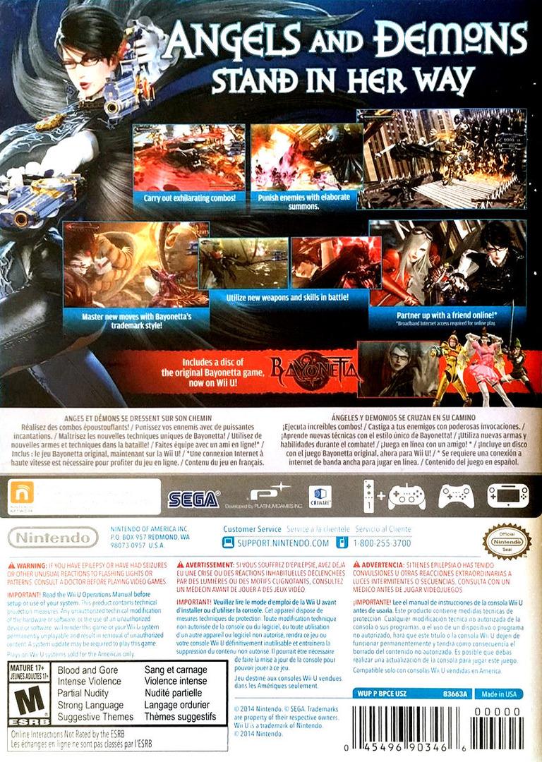 Bayonetta 2 WiiU backHQB (BPCE01)
