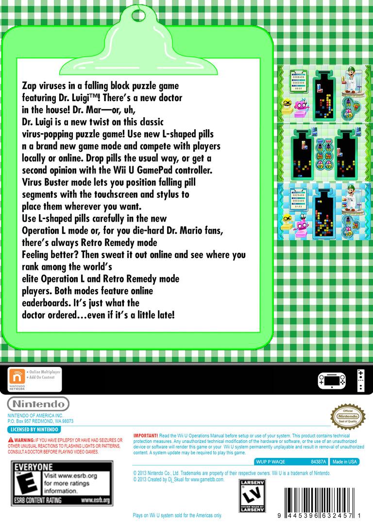 Dr. Luigi WiiU backHQB2 (WAQE)