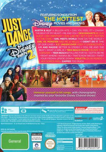 Just Dance Disney Party 2 WiiU backM (ADPP41)