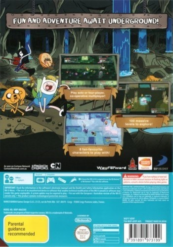 Adventure Time: Explore the Dungeon Because I DON'T KNOW! WiiU backM (ADVPAF)
