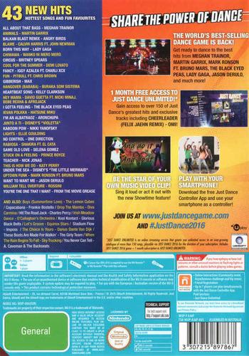 Just Dance 2016 WiiU backM (AJ6P41)