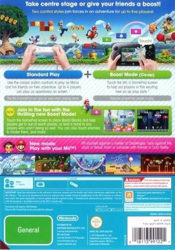 New Super Mario Bros. U WiiU backM (ARPP01)