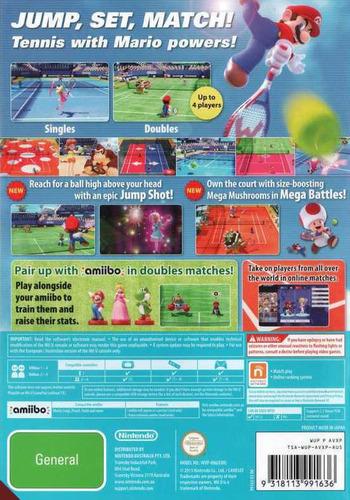 Mario Tennis: Ultra Smash WiiU backM (AVXP01)