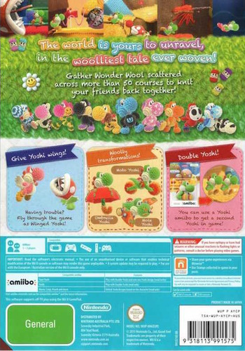 Yoshi's Woolly World WiiU backM (AYCP01)
