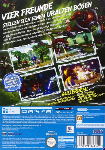 Sonic Boom: Lyrics Aufstieg WiiU backM (BSSP8P)