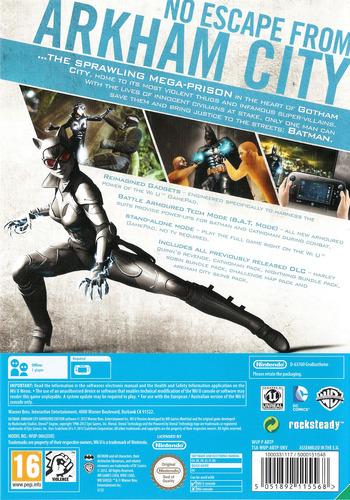Batman Arkham City: Armoured Edition WiiU backM (ABTPWR)