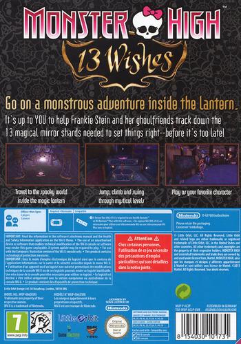 Monster High: 13 Wishes WiiU backM (AC2PVZ)