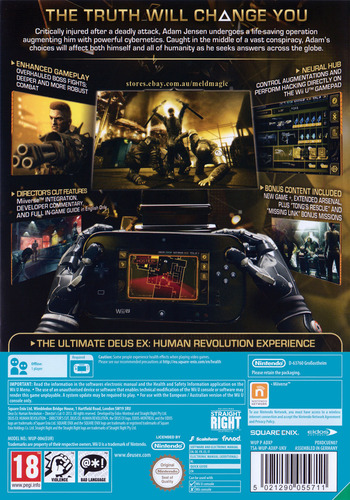 Deus Ex: Human Revolution - Director's Cut WiiU backM (ADXPGD)