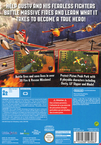 Disney Planes: Fire & Rescue WiiU backM (AFRPVZ)