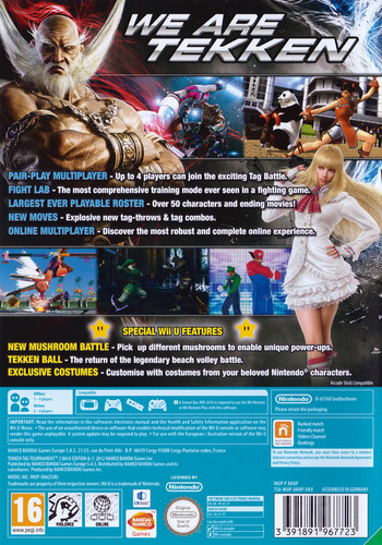 Tekken: Tag Tournament 2 WiiU backM (AKNPAF)