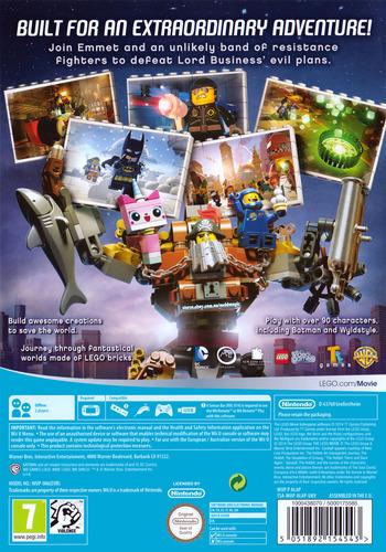 The LEGO Movie Videogame WiiU backM (ALAPWR)