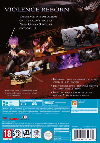 Ninja Gaiden 3: Razor's Edge WiiU backM (ANGP01)
