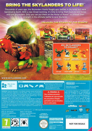 Skylanders: Giants WiiU backM (ASLP52)