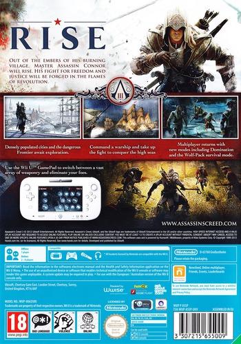 Assassin's Creed III WiiU backM (ASSP41)