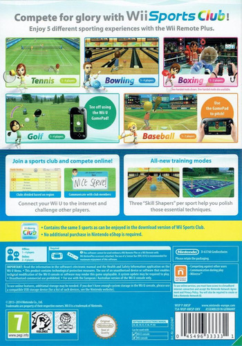 Wii Sports Club WiiU backM (AWSP01)