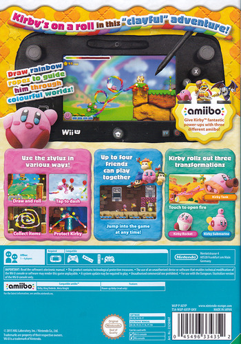 Kirby and the Rainbow Paintbrush WiiU backM (AXYP01)