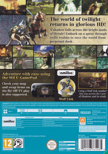 The Legend of Zelda: Twilight Princess HD WiiU backM (AZAP01)