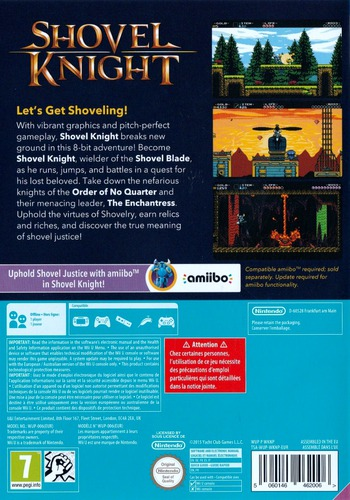 Shovel Knight WiiU backM (WKNPAY)