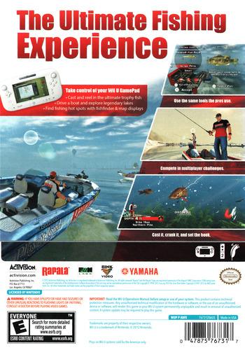 Rapala Pro Bass Fishing WiiU backM (ABFE52)