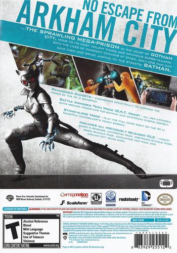 Batman Arkham City: Armored Edition WiiU backM (ABTEWR)