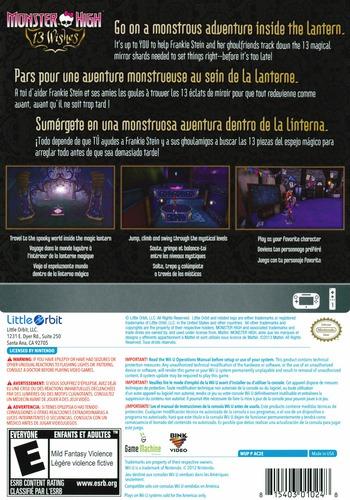 Monster High: 13 Wishes WiiU backM (AC2EVZ)