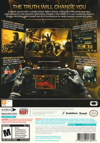Deus Ex: Human Revolution - Director's Cut WiiU backM (ADXEGD)