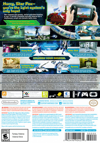 Star Fox Zero WiiU backM (AFXE01)