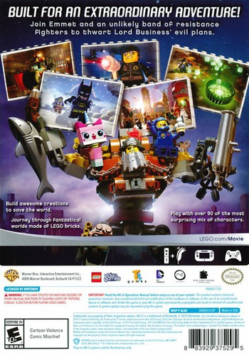 The LEGO Movie Videogame Array backM (ALAEWR)