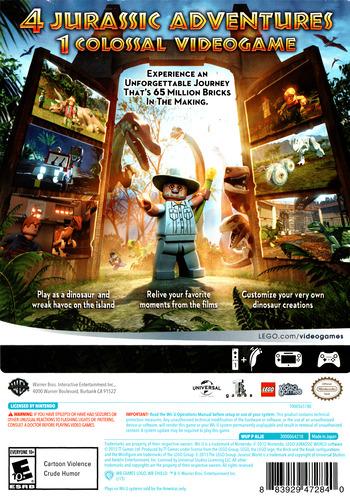 LEGO Jurassic World WiiU backM (ALJEWR)