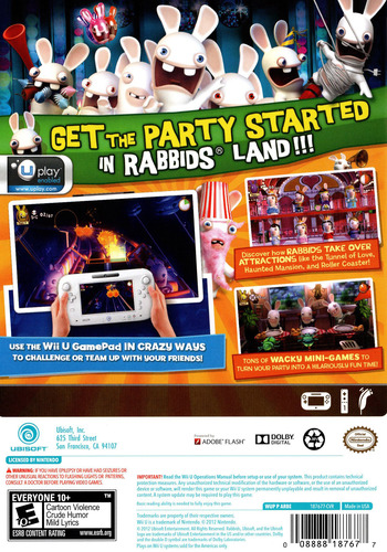 Rabbids Land WiiU backM (ARBE41)