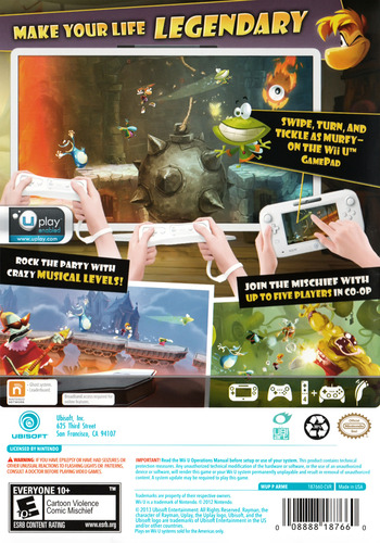 Rayman Legends WiiU backM (ARME41)