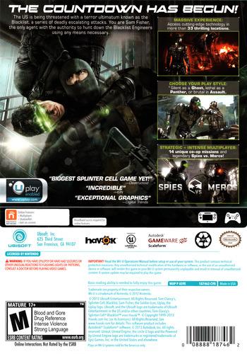 Tom Clancy's Splinter Cell Blacklist WiiU backM (AS9E41)