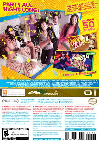 SiNG Party WiiU backM (ASWE01)