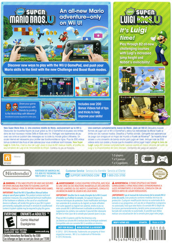 New Super Mario Bros. U + New Super Luigi U WiiU backM (ATWE01)