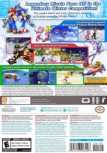 Mario & Sonic at the Sochi 2014 Olympic Winter Games WiiU backM (AURE01)