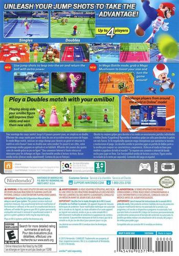 Mario Tennis: Ultra Smash WiiU backM (AVXE01)