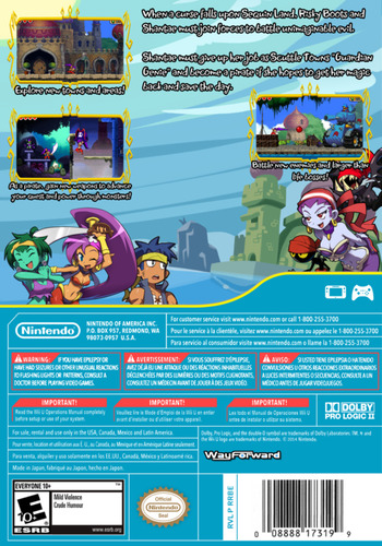 Shantae and the Pirate's Curse WiiU backM (BSXE)