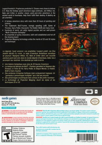 The Book of Unwritten Tales 2 WiiU backM (BUTE6V)