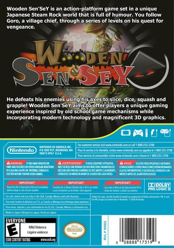 Wooden Sen'SeY WiiU backM (WDSE)