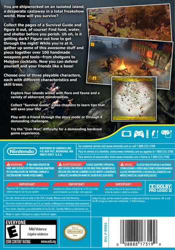 How to Survive WiiU backM (WHTE)