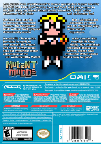 Mutant Mudds Deluxe WiiU backM (WMME)