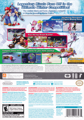 Mario & Sonic at the Sochi 2014 Olympic Winter Games WiiU backM2 (AURE01)